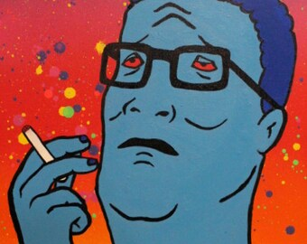 Hank Hill Smoking Pop Portrait (King of the Trill - Turn down for Hwat