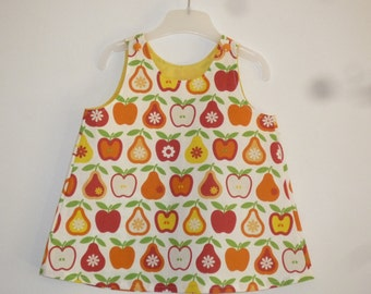 Dress for babies, apples and pears, size 6 months