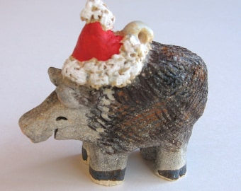 Javelina Southwest Christmas Ornament, Sedona, Arizona, Handmade of Clay by Karlene Voepel