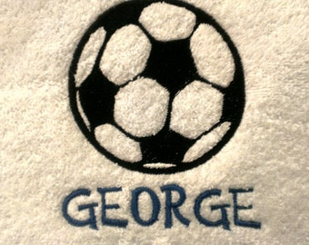 Soccer Personalized Sports Towel