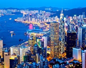 China - Hong Kong - City night view - SKU 0034