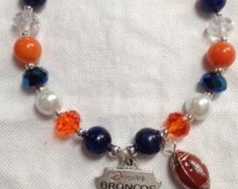 Denver Broncos Charm Stretch Bracelet