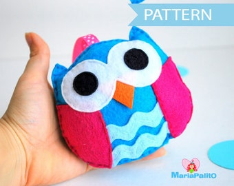 Owl Sewing Pattern, Felt toy PDF Sewing pattern , Kids craft Project Instant Download A668
