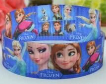 """50 yards 7/8""""  Froze Grosgrain Ribbon - Disney Frozen Ribbon - 22mm Grosgrain Ribbon -Scrapbooking Ribbon- we have many more frozen ribbons"""