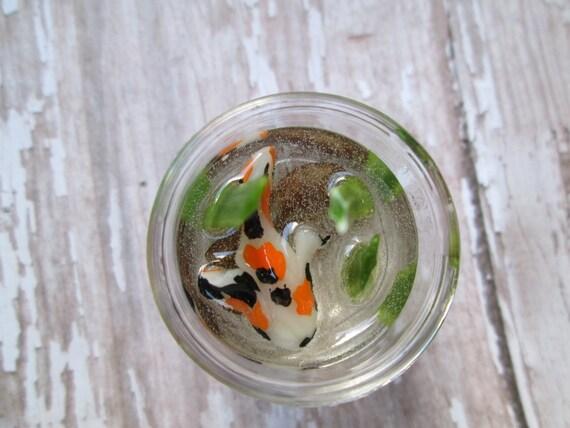 Fairy garden accessory white koi fish bowl miniature fairy for Koi fish bowl