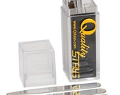 Exclusive Box of 24 Quality Personalized Stainless Steel Collar Stays, Four Sizes