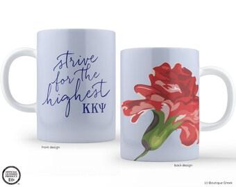 KKY Kappa Kappa Psi Fraternity Strive For The Highest Carnation Mug