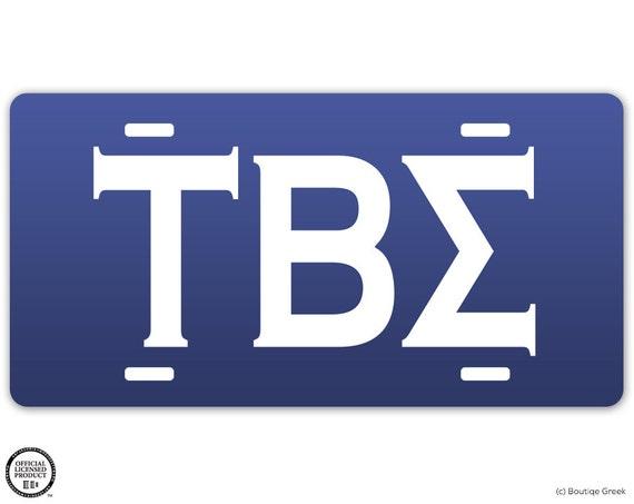 Tbs tau beta sigma sorority classic letters license plate for Tau beta sigma letters