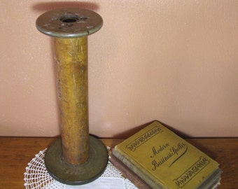 Vintage Wooden Industrial Bobbin