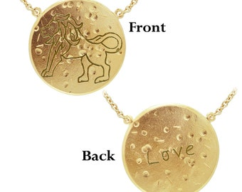 Leo: LOVE (The Lion) Astrology Necklace