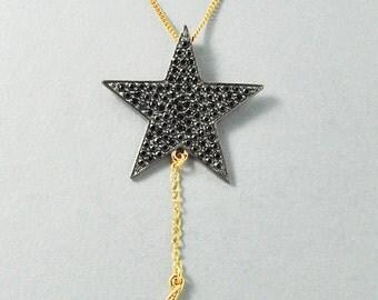Magic Star w/ Moon Dangle Necklace