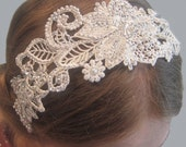 Vintage Inspired Lace Diamante and Pearl Tiara