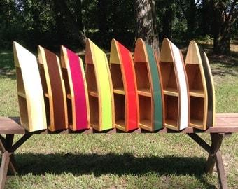 Handmade Wooden Rowboat Boat Shelves Boat Shelf Canoe Boat Shelf Home Decor