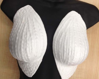 Foam scaly breast plates.