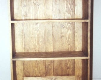 "47"" Tall Solid Wood Bookcase"