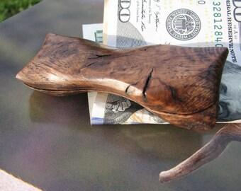 Carved Wood Money Clip, Wood Money clip, Money Clip