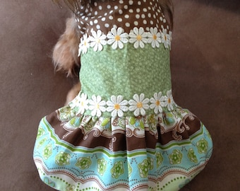 Medium dog dress reversible homemade dress
