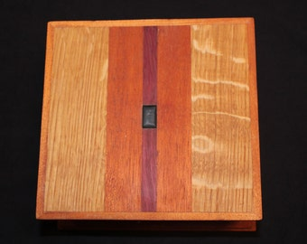 Oak/Purple Heart/Mahogany Jewelry Box