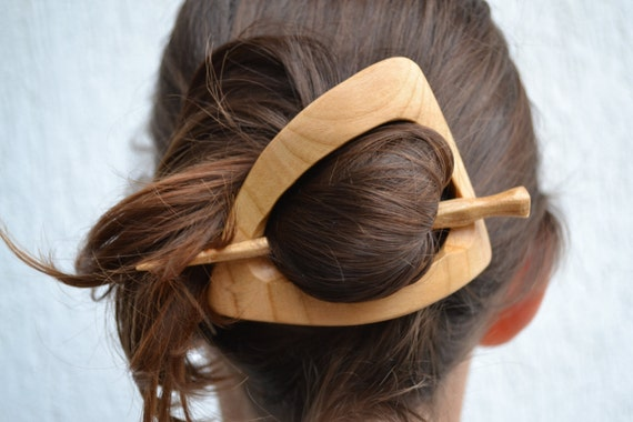 Accessory,Hair Barrette, Hair Pin, Hair Stick, Slide, Wooden Shawl Pin, Carving, Womens Gift, Gift for Her, Wife, Moms
