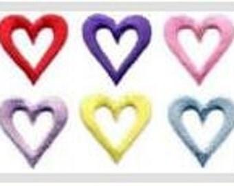 Open Face Heart Iron on Applique 511117