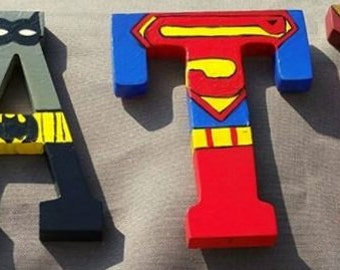 Handpainted Super Hero Letters
