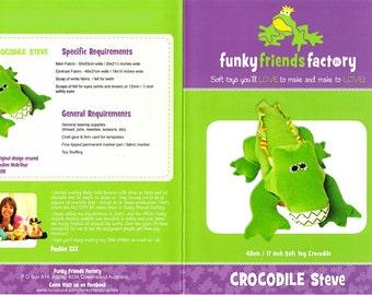 Crocodile Steve by Funky Friends pattern only