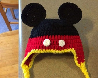 Child's Crochet Mickey Hat