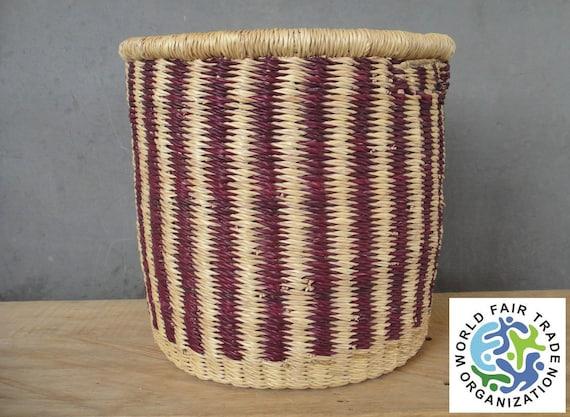 Handmade Basket Paper : Bolga waste paper basket handmade in bolgatanga by tradeaid