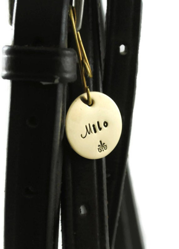 Brass Bridle or Halter Tag Hand Stamped Pet ID Tag by ...