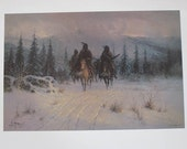 Signed and Numbered Print By G. Harvey In the Land of Blackfeet 1559/2250