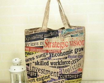 Tote Bag - Cotton Bag - Print Canvas - eco friendly - gift for her - beach bag.  a2