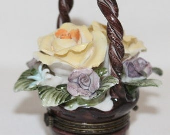 Trinket Floral Basket for your special items