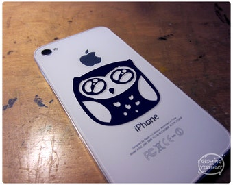 Cute Owl vinyl decal for phone, computer, or whatever needs to be more whimsical