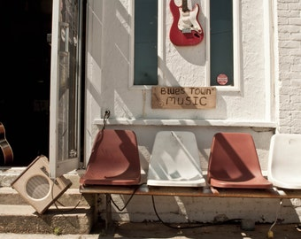 Blues Music Storefront, Fine Art Photograph