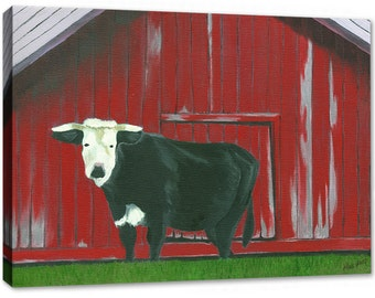 King Ferry Cow - Canvas Print