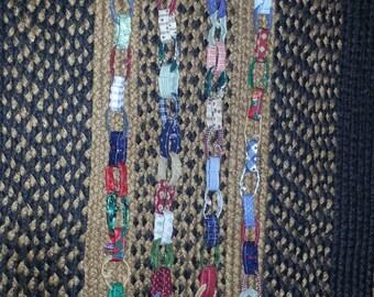 Fabric Chain Link Christmas Garland