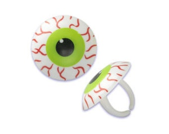 Halloween Bloodshot Eyeball Cupcake Rings
