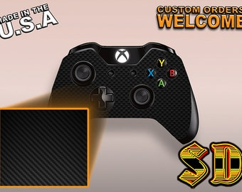 Xbox 1 Controller Wrap - Carbon Fiber - Black - Skin X1C-1080-CF12