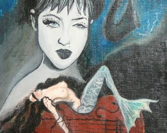 European art oil painting surrealism portrait signed
