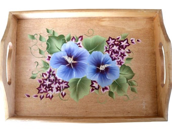 Rose of Sharon ~ Hand Painted Tray