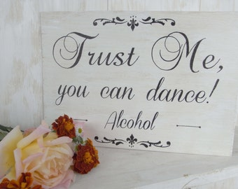 Alcohol wood sign. Wedding sign, engagement party, shower, party. Hand painted wood sign