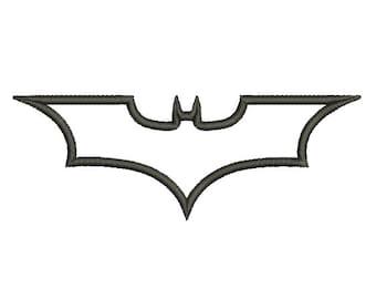 Batman Dark Knight Applique - Embroidery Machine Design