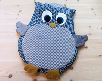 Owl baby mat / play mat / floor cushion DIY tutorial PDF (A4-size) sewing pattern - instant download