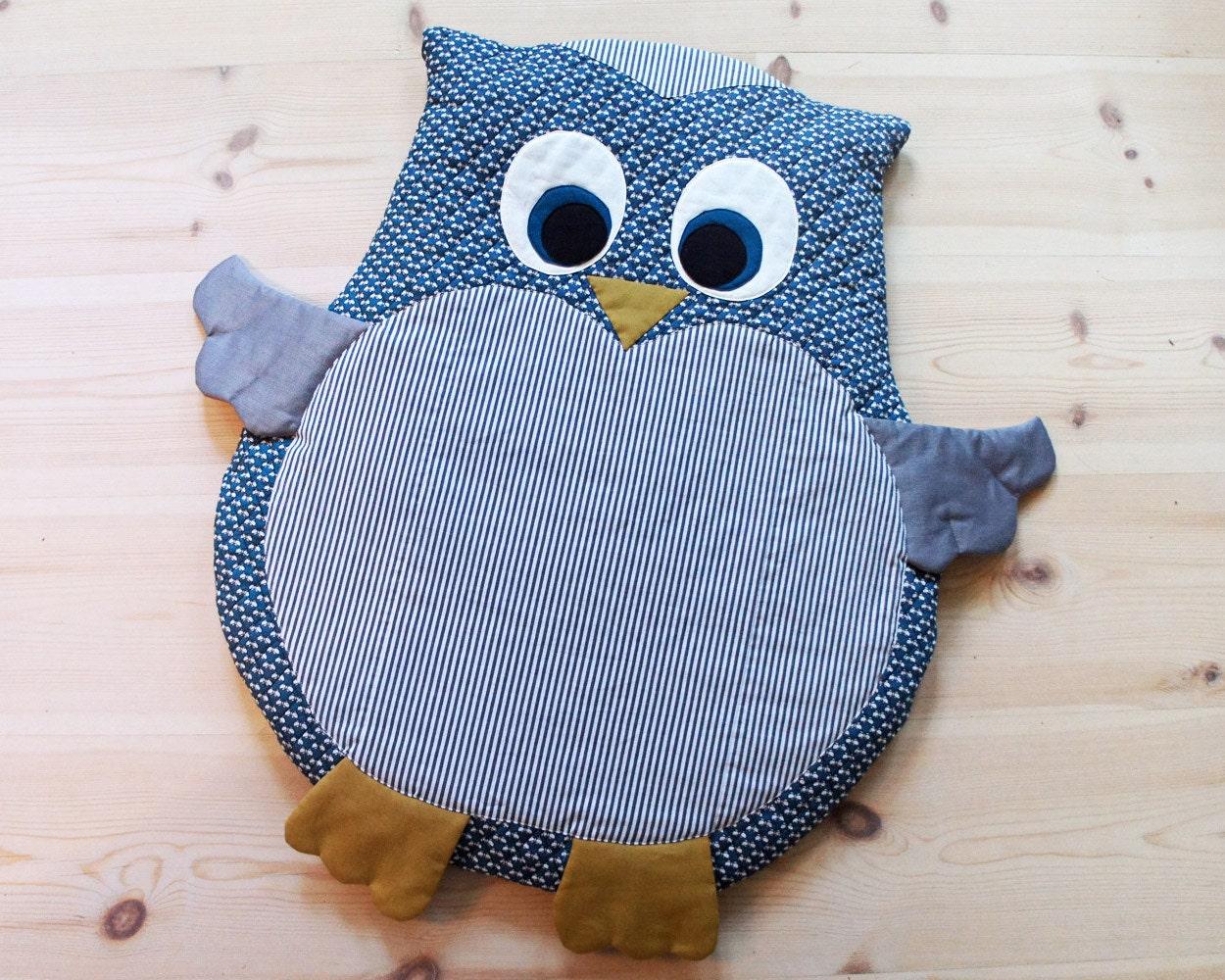 owl baby mat play mat floor cushion diy tutorial pdf. Black Bedroom Furniture Sets. Home Design Ideas