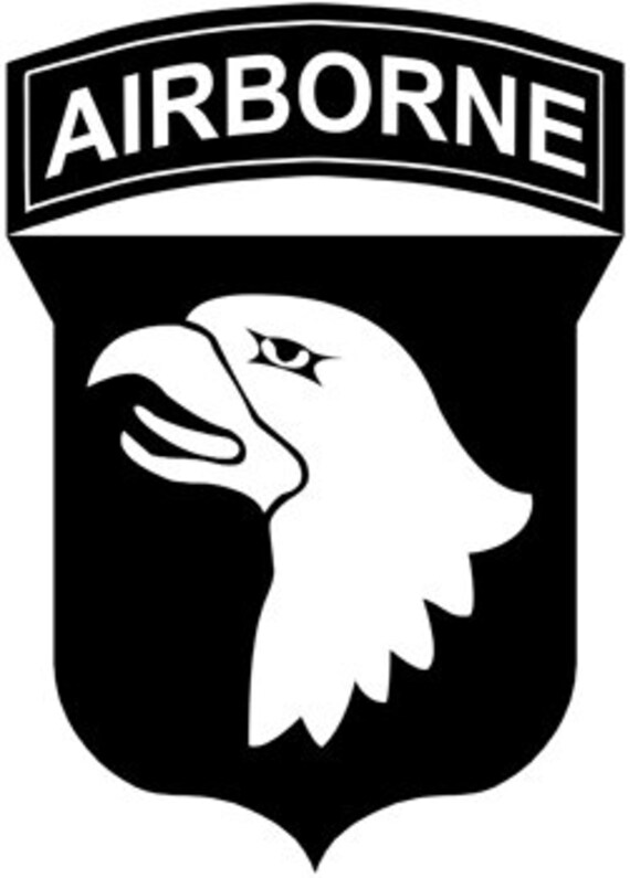 Airborne die cut decal car window wall bumper phone laptop for 101st airborne window decals