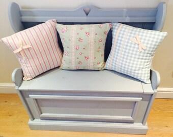 Brandnew, handmade, solid pine monks bench, with under seat storage.