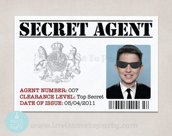 Secret Agent ID / Detective ID / Spy ID