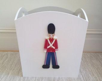 Soldier Toy Bin, Toy Box, Toy Storage, Boys Toy Box, Boys Toy Bin, Childrens Toy Box, Childrens Furniture