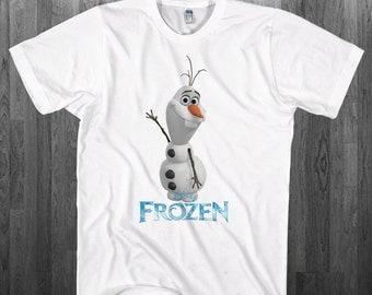 Frozen Olaf snowman T-shirt Kristoff Elsa Anna disney movie fan Youth Adult toddler size Tee Shirts