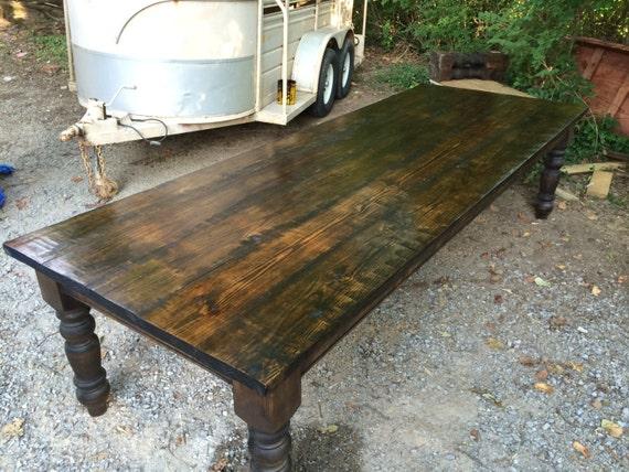 Massive 10 foot farm table for 10 foot farm table